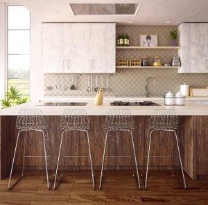 cuisine ouverte ba chaises hautes