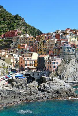 vue des cinq terres en italie