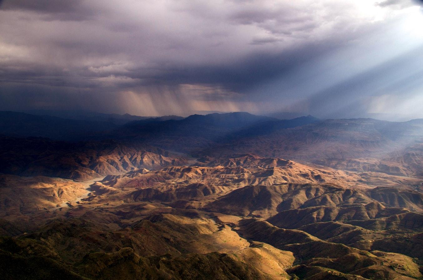 Paysages de Lalibela en Ethiopie