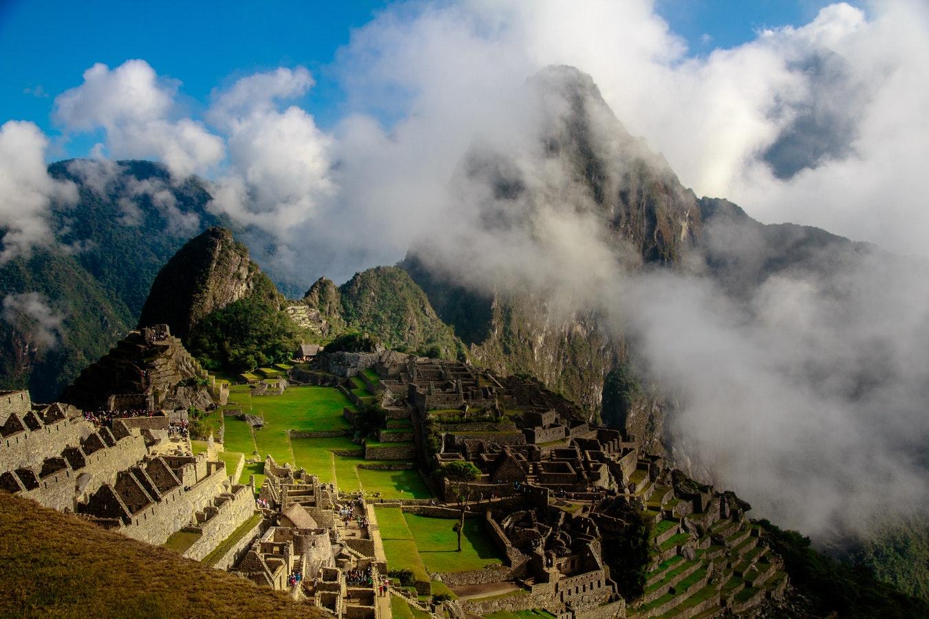 Vue du Machu Picchu au Pérou