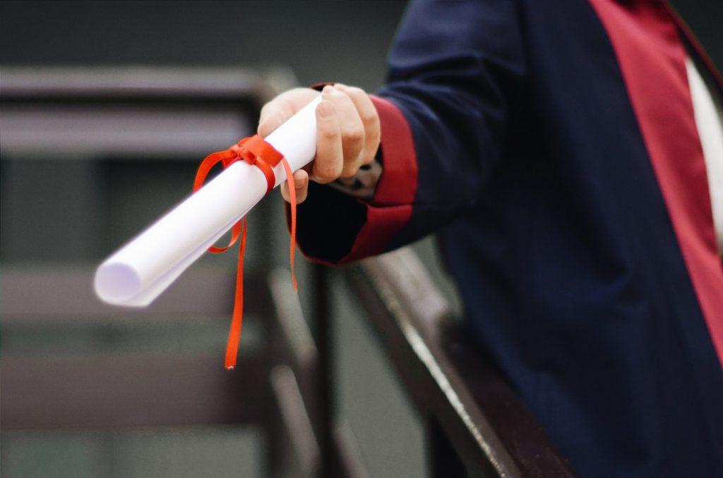 Remise de diplôme après une licence, une licence pro ou un bachelor