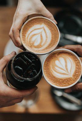 trois boissons à base de café